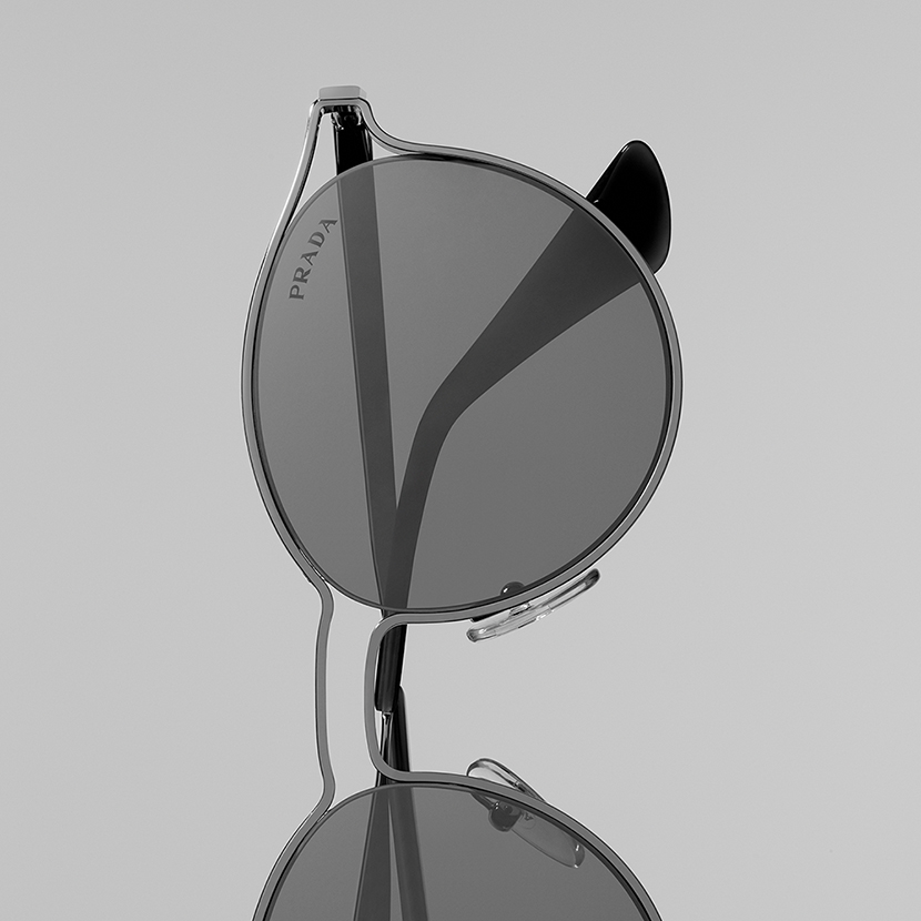 prada eyewear sunglasses in stilllife photography by paul krokos photographer based between london paris