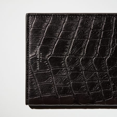 saint laurent wallet still life photography