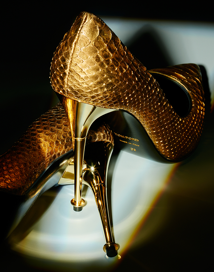 tom ford heels still life product photography paul krokos