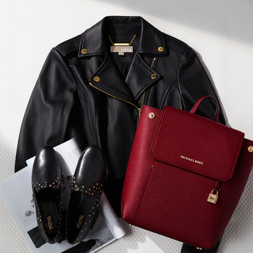 flat lay photography for michael kors