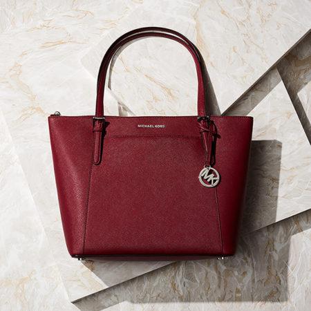 mk handbag still life campaign